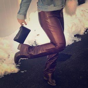 Vintage gap leather boot cut jeans OMG!